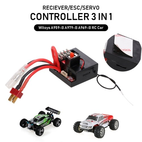 Wltoys A959-B A979-B A969-B RC Car Receiver/ESC/Servo Controller 3 in 1 Replacement Part A959-B-25 for Wltoys A959-B A979-B A969-B RC Car High Speed RC Buggy