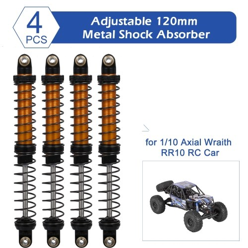 4pcs Adjustable 120mm Metal Shock Absorber Damper for 1/10 Axial Wraith RR10 RC Car