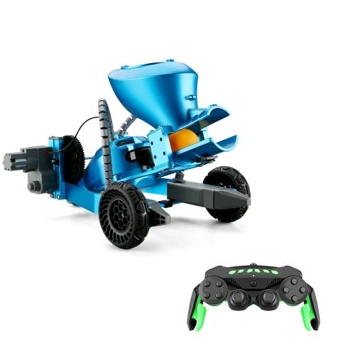 K6 2.4Ghz RC Robotic Car Aluminum Alloy Remote Control Robot with Wheels DIY Building Toy Image