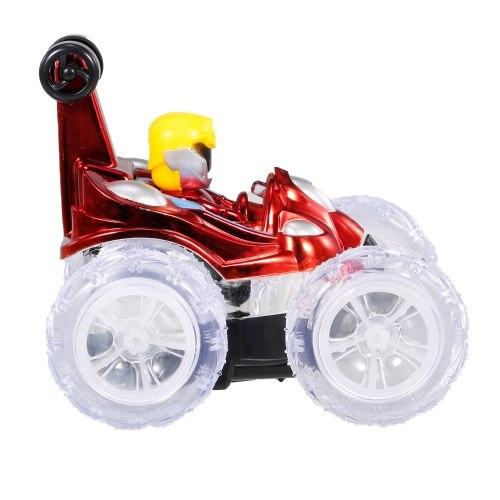 Auto acrobatica telecomandata 2.4G RC giocattolo per auto con luci LED lampeggianti Rotazione a 360 ° a piedi in posizione verticale per bambini Ragazzi Ragazze