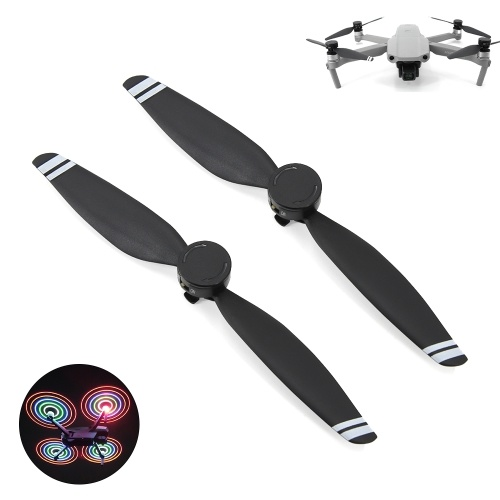 2pcs LED Propellers LED Light Flash Propellers Low-Noise Quick-Release Folding Blades for DJI Mavic Air 2 Drone