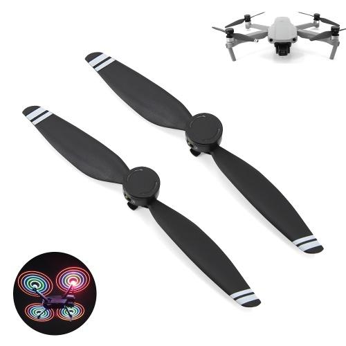 2-teilige LED-Propeller LED-Lichtblitzpropeller Geräuscharme, schnell lösbare Faltblätter für die DJI Mavic Air 2-Drohne
