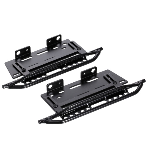 Metal Side Pedal Racing Running Boards Foot-Plate Compatible with 1/10 RC Crawler Car Axial SCX10 II 90046 Image