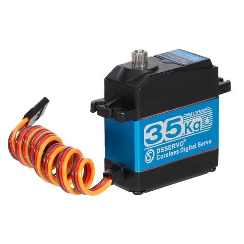 Servo 35KG IP66 Servo digitale impermeabile ad alta coppia per 1/10 1/8 RC Auto RC Robot cingolato RC Barca