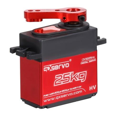 25 kg digitales Servo mit 25 t Servoarm IP66 Wasserdichtes Kupferzahnrad mit hohem Drehmoment 180 Betriebswinkel