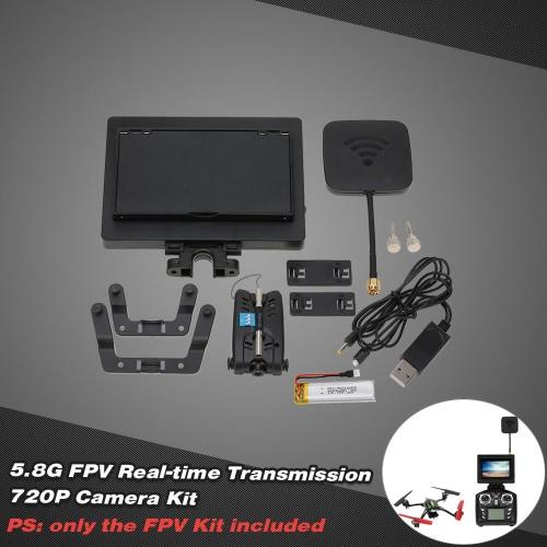 5.8G FPV Real-time Transmission 720P Camera Kit for JJRC H16 H16-5D WLtoys V959 V222 V262 V323 RC Quadcopter
