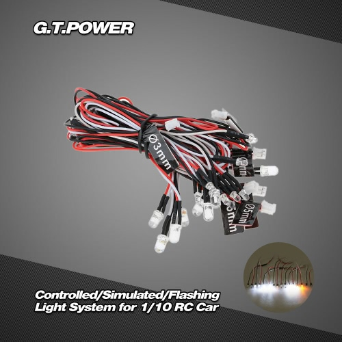 G.T.POWER Controlled/Simulated and Flashing Light System for 1/8 1/10 RC Car