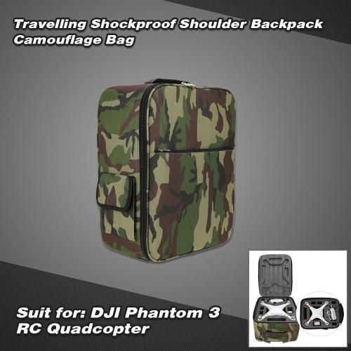 Travelling Shockproof Shoulder Backpack Camouflage Bag for DJI Phantom 3 RC Quadcopter