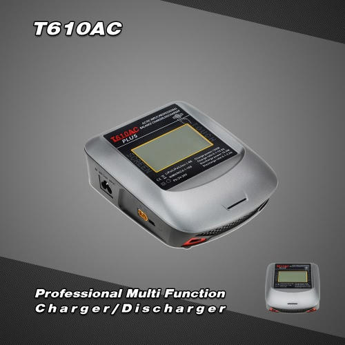 T610AC Professional 100W AC/DC Balance Charger/Discharger with LCD Touch-Screen for NiMH NiCd LiPo LiFe Lilon and Pb Battery