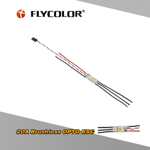 Original Flycolor RAPTOR 20A Brushless OPTO ESC Support Oneshot125 for QAV250 330 Racing Drone