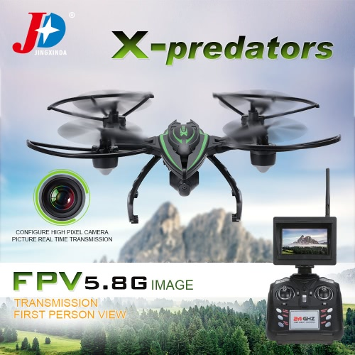 Original JXD 510G 2.4G 4CH 6-Axis Gyro 5.8G FPV 2MP Camera RTF RC Quadcopter with One-key Return CF Mode 3D-flip High Hold Mode Function
