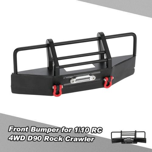 Metallo paraurti anteriore con fibbia Trailer per 1/10 RC4WD D90 Axial SCX10 RC Rock Crawler