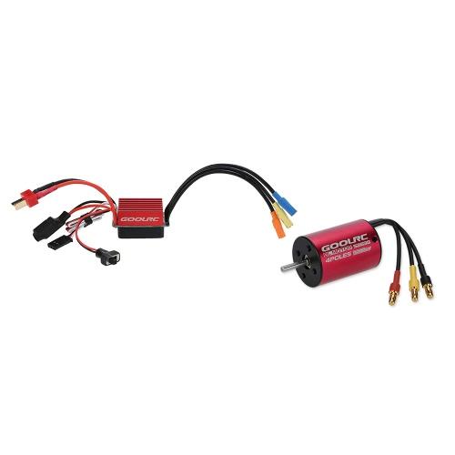 1/12 1/14 RC車のトラックのためのオリジナルGoolRC S2838 3200KVセンサレスブラシレスモーターと35AブラシレスESCコンボセット
