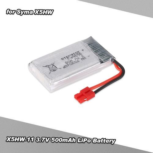 SYMA X5HW X5HC RCクワッドローター用X5HW-11 3.7Vシティ500mAhリポバッテリー