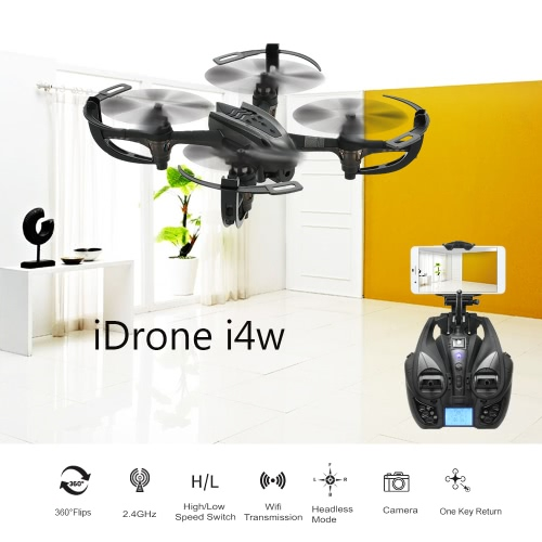 Ursprüngliche Yizhan iDrone I4W 2.4G 4CH 6-Achsen-Gyro WiFi FPV 0.3MP Kamera RTF RC Quadcopter Drone mit Flip 3D CF-Modus Ein-Tasten-Return-Funktion