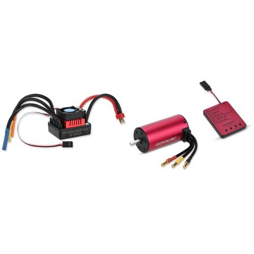 GoolRC S3670 2150KV Moteur brushless sans capteur 80A Ensemble brushless ESC et programmable pour carte de rangement pour camion voiture 1/8 RC