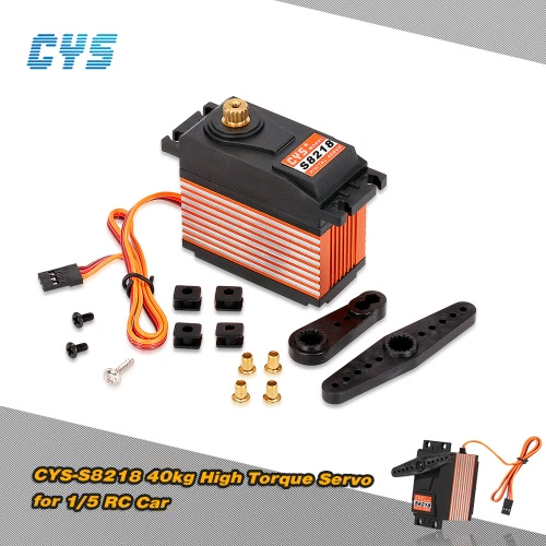 Original CYS-S8218 40kg Metal Gear Digital 6V-7.4V 0.18s-0.20s/60° High Torque HV Servo for 1/5 RC Car