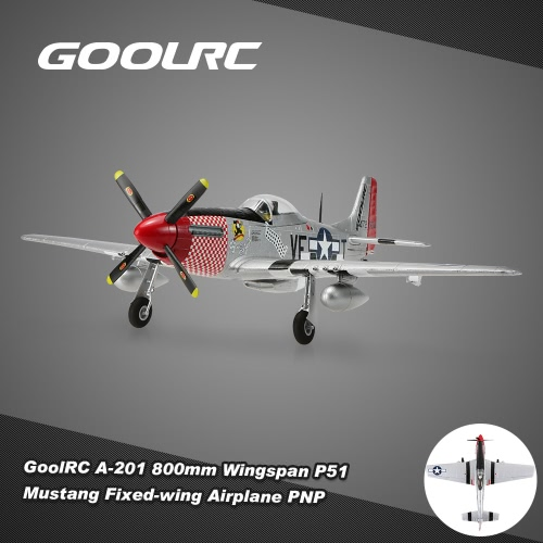 GoolRC A-201 800mm Wingspan P51 Mustang Warbird EPO Fixed-wing Airplane PNP Version RC Aircplane