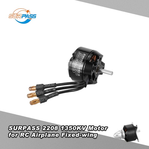 Original SURPASS High Performance 2208 1350KV 14 Poles Brushless Motor for RC Airplane Fixed-wing