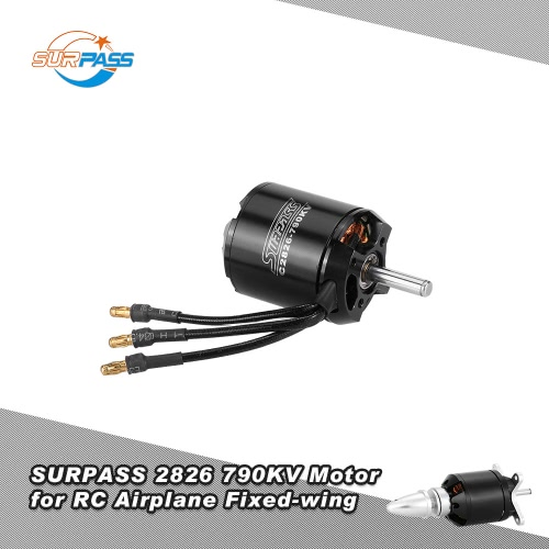 Original SURPASS High Performance 2826 790KV 14 Poles Brushless Motor for RC Airplane Fixed-wing