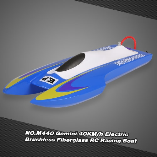 NO.M440 Gemini 40KM/h High Speed Electric Brushless Fiberglass RC Racing Boat
