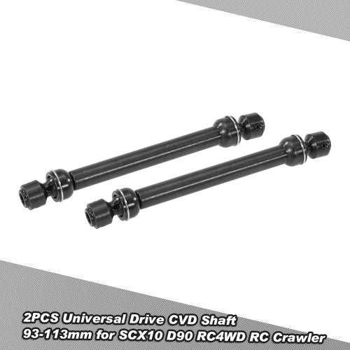 2PCS Stainless Steel Universal Drive CVD Shaft 93-113mm for SCX10 D90 RC4WD RC Crawler