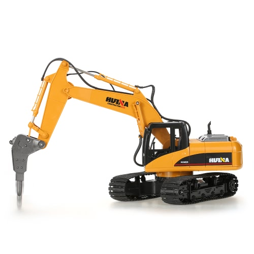 HUINA TOYS NO.1560 2.4G 16CH RC Excavator Broken Disassemble Truck Engineering Vehicle Toys