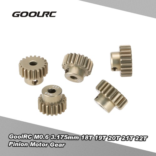 GoolRC M0.6 3.175mm 18T 19T 20T 21T 22T 0.6 Modul Pinion Motor Getriebe für 1/8 1/10 RC Offroad-Buggy Monster Truck Brushed Brushless Motor