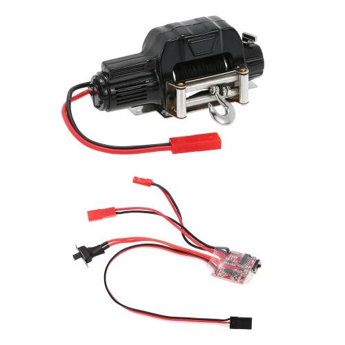 1/10 treuil de chenilles automatique électrique et 30A Contrôleur de commutateur ESC brossé pour RC 1/10 JEEP Axial SCX10 AX10 Tamiya CC01 HSP Traxxas RC4WD Rock Crawler