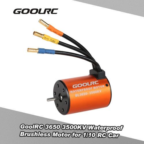 GoolRC 3650 3500KV Waterproof Brushless Motor for 1/10 RC Car HSP 94123 HuanQi 727 FS Racing 53625/53632