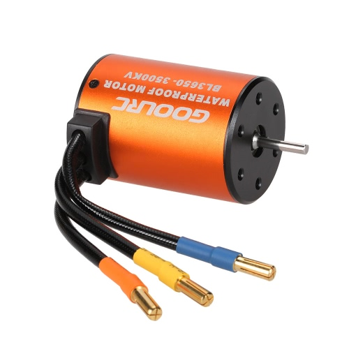 GoolRC 3650 3500KV Waterproof Brushless Motor for 1/10 RC Car HSP 94123 HuanQi 727 FS Racing 53625/53632, TOMTOP  - buy with discount