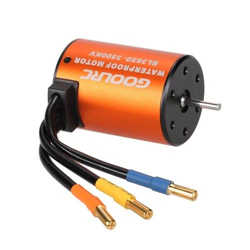 GoolRC 3650 3500KV motor à prova d'água sem escova para 1/10 RC Car HSP 94123 HuanQi 727 FS Racing 53625/53632
