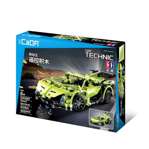 453Pcs Double E C51007W 2.4G Sport Racing Car Building Blocks Kits DIY RC Car от Tomtop.com INT