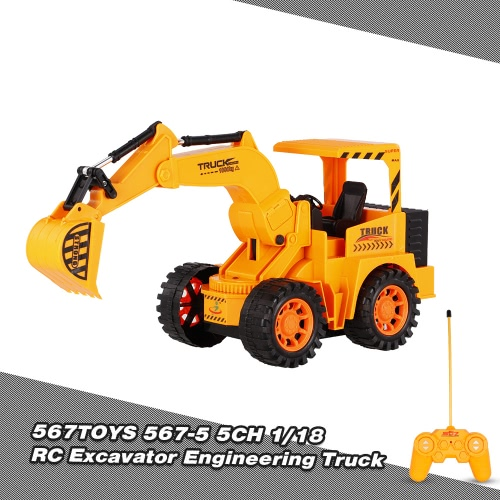 567TOYS 567-5 1/18 5CH RC Excavator Engineering Truck RC Car