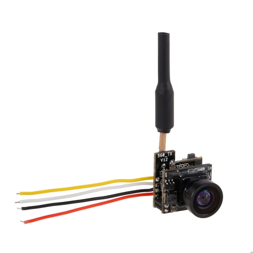 Turbowing 5.8G 48CH 25mW NTSC/PAL 700TVL FPV Transmitter Camera 120° Lens Support OSD for Inductrix QX90 Micro Racing Drone