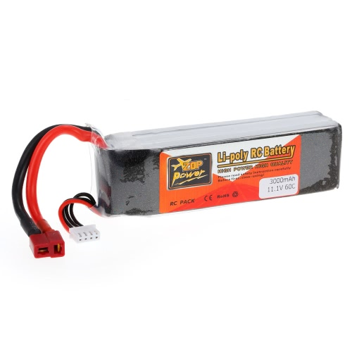 ZOP Power 3S 11,1V 3000mAh 60C High Rate LiPo Battery T Plug