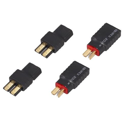 2Pairs NO Wires Traxxas Plug Female to T-Plug męski i Traxxas męski do T-Plug żeński Adapter Złączy