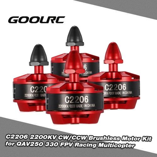 GoolRC C2206 2200KV Brushless Motor Kit for QAV250 330 FPV Racing Multicopter RC Drone