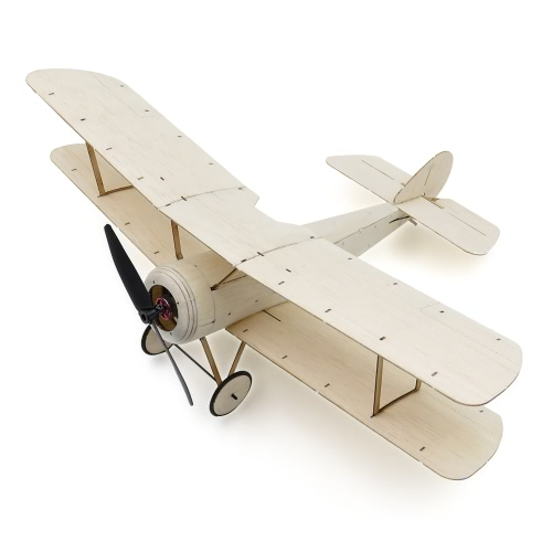 Sopwith Pup Balsa Wood 378mm Wingspan Biplane Warbird Модель самолета Light Wood Airplane Kit