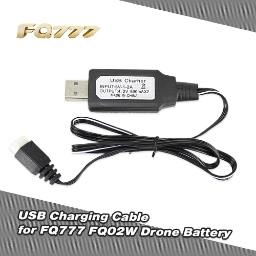 Lipo Battery USB Charging Cable for FQ777 FQ02W FPV Drone Foldable Quadcopter