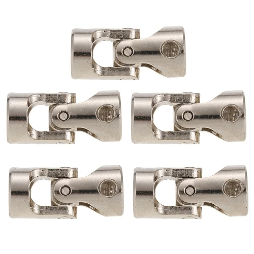5pcs Stainless Steel 5 to 6mm Full Metal Universal Joint Cardan Couplings for RC Car and Boat D90 SCX10 RC4WD