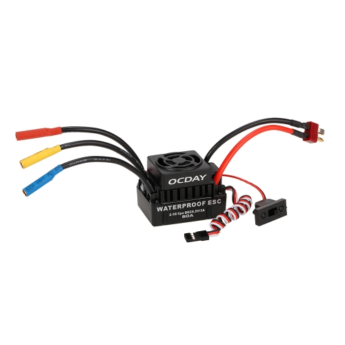 OCDAY 60A 2-3 S Brushless ESC Elektrische Drehzahlregler mit 5,8 V / 3A BEC für 1/10 RC On-road Off-road Buggy Monster Auto