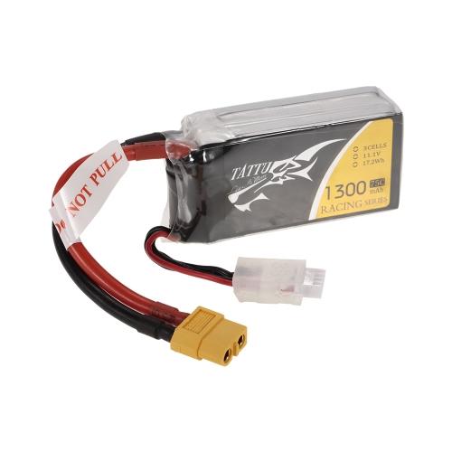 ACE TATTU 1300mAh 11.1V 75C 3S1P 3S Batterie Lipo avec prise de connecteur XT60 pour FPV Racing Drone