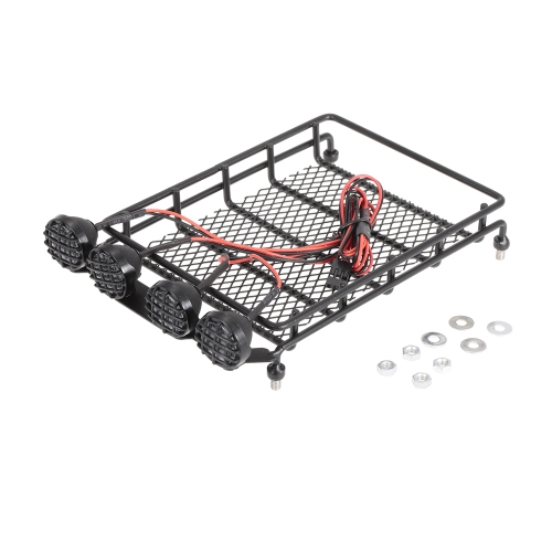 Roof Rack Luggage Carrier & Light Bar for 1/10 Monster Truck Short-Course Rally RC Car Crawler HPI TAMIYA CC01 AXIAL SCX10 RC4WD D90 REDCAT
