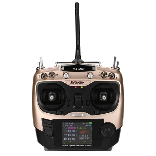 RadioLink AT9S 2.4GHz 10CH Remote Control System Transmitter Mode2 & R9DS 8CH Receiver for RC Drone Aircraft Helicopter Multicopter