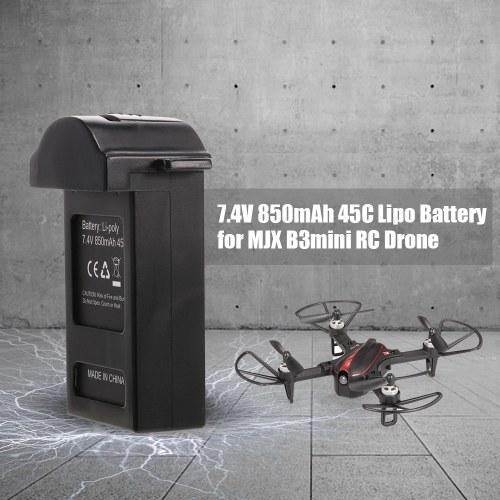 Original MJX Part 7.4V 850mAh 45C Lipo Battery for MJX B3mini RC Drone
