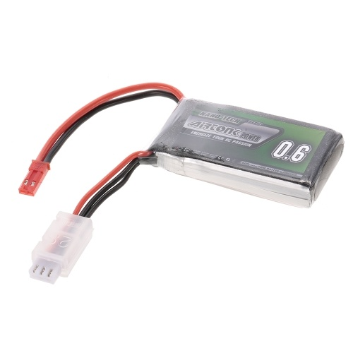 7.4V 600mAh 30C 2S Rechargeable Li-Po Battery with JST Plug for RC Racing Drone Quadcopter Helicopter Airplane Car Truck