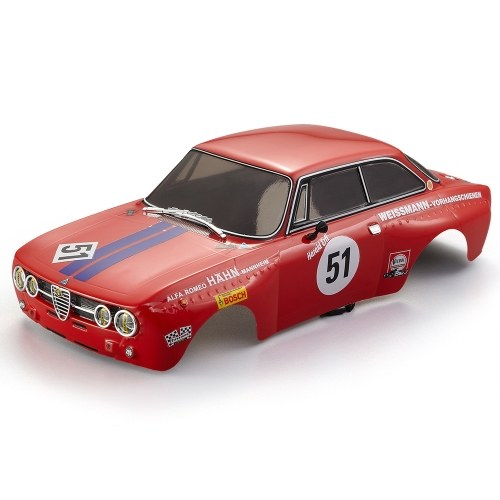 KillerBody 48251 257mm Alfa Romeo 2000 GTAm Finished Body Red Frame for 1/10 Electric Touring RC Drift Racing Car DIY