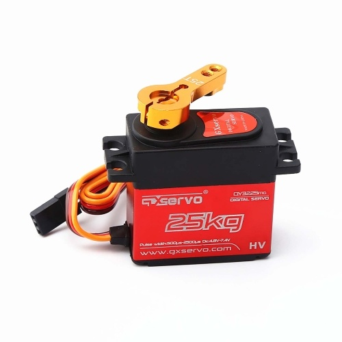 QY3225 25KG Metal Gear High Torque Waterproof Digital Servo for  1/10 1/12 RC Car Traxxas HSP Car Boat Helicopter Robot Airplane