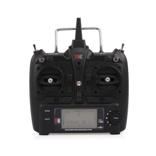 Transmissor de controle remoto XK X6 2.4G 6CH